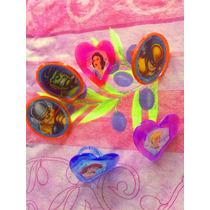 Princesas Y Superheroes Set De Anillos Para Pastel