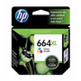 La Plata! Cartucho Hp 664xl Tricolor / Negro 8ml Original !!
