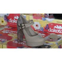 Sapato Scarpin Meia Pata Dakota B7792 Feminino Salto:11,8 Cm