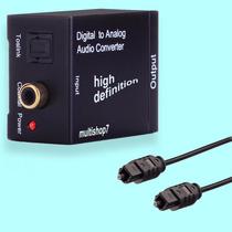 Adaptador De Áudio Toslink Digital Para Rca + Cabo Óptico