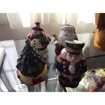 Cajas Musicales 4 Pzas Santa Claus,arbol,muñeco Nieve