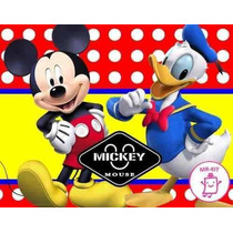 Kit Imprimible Mickey Mouse Diseñá Tarjetas Cotillon Mas 1