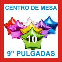 10 Globos Metálico Estrella 9 Centro De Mesa Xv Boda Fiesta