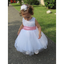 Vestido Dama Daminha Formatura Princesa Branco Curto