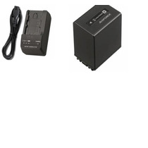 Kit Bateria Np-fv100 + Carregador P/ Sony Hdr-xr160 Dcr-sx20