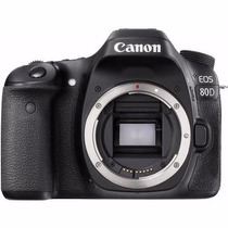 Câmera Canon Dslr Eos 80d Corpo 24mp Wifi