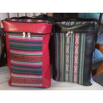 Bolsos Materos En Cuero Eco Y Aguayo!!!