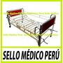 Cama Clinica Con Dos Manivelas-ruedas-barandas-frenos-on/off