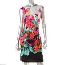 Vestido Estampado Flores Adrianna Papell