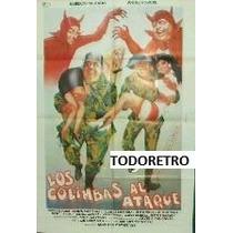Afiche Los Colimbas Al Ataque Alberto Olmedo J. Porcel 1987