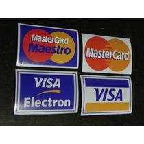 Pacote Adesivos Cartão De Credito Visa/mastercard