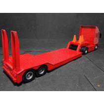 Caminhão Prancha Carreta Vermelha Comp=65cm Larg=12cm A=18cm