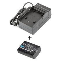 Kit Bateria Np-fh50 + Carregador P/ Sony Dsc-hx100v Hx200v