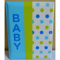 Amy Coe Bebé Primer Registro Año Memory Book - Blue Dot