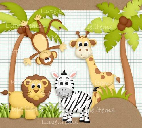 Kit Digital De Luxo Animais Da Floresta - R$ 6,05 em ...