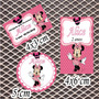 Kit Minnie Rosa Rótulos Personalizados Adesivos 120 Unidades