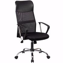Cadeira Presidente Em Tela Rodizio Silicone Anti Risco