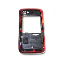 Carcasa Frontal Motorola Xt621 Roja Ferrari Sin Tapa
