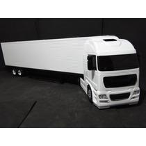 Carreta Bau Caminhão Comp67cm Larg11cm Scania Volvo Mercedes