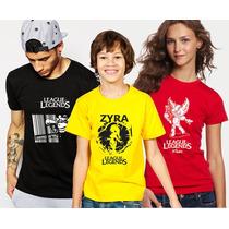 Camisetas Games League Legends Ziggs, Zira, Teemo Army