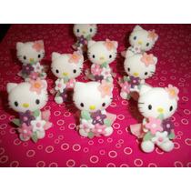 Kitty Souvenirs Con Florcitas