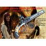 Pistola Mini Pistolon Pirata Doble Caño Coleccion Acero