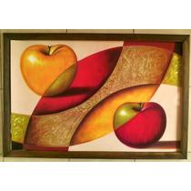 Cuadro Grande Nuevo Abstracto Manzanas