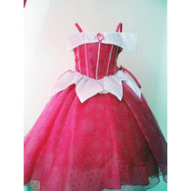 Espectacular Vestido Disfraz Princesa Aurora Tiara