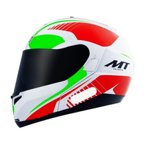 Capacete Mt Optimus Quest Red/green Escamoteavel N. 58