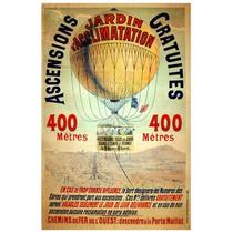 Lienzo Tela Viaje En Globo Aeroestático 1898 78x50cm Poster