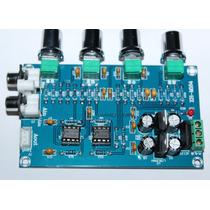 Placa Montada De Pré-amplificador Com Controle Tons Ne5532