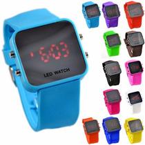 Reloj Led Sport Digital Espejo Silicon Varios Colores!