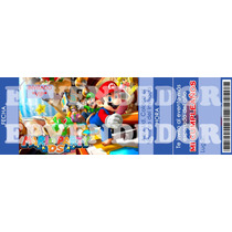 Tarjetas De Invitacion Mario Bros - Invitaciones Epvendedor