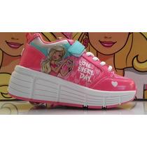 Zapatillas Barbie Con Ruedita