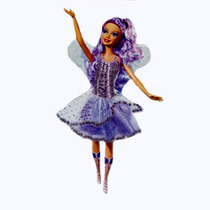 Precioso Disfraz De Hada Morada De Barbie Lvbp13