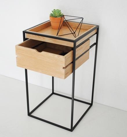 cajonera de acero y madera mueble dise o moderno mueble On muebles de acero madera industrial