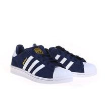 Zapatillas Adidas Original Superstar J Azul Ultimas!!!