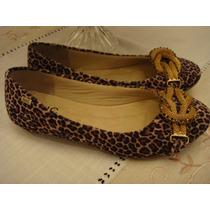 Nhc Shoes Sapatilha Oncinha Laco Dourado Tam. 34 Como Nova