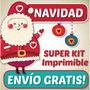 Nuevo Kit Imprimible Navidad Patrones Foami Lenceria Muñecos