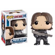 Winter Soldier Funko Pop Bucky Capitan America Civil War 129