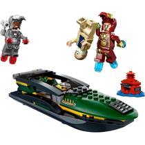 Decool Lego Homem De Ferro 3 Batalha No Mar - Marvel
