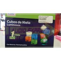 Cubo De Hielo Leds Luminoso Color Rojo Caja 350272