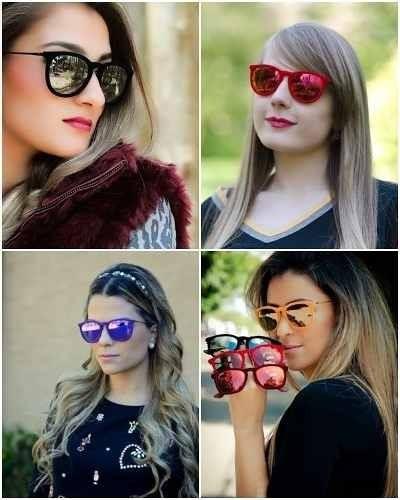 f56cc3ce16511 Oculos De Sol Rb4171 Erika Preto Espelhado Veludo Ray-ban - R  119,00 em Mercado  Livre