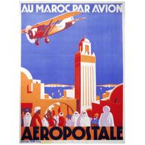 Lienzo Tela Anuncio Aeropostale Francia 67 X 50 Poster Avión