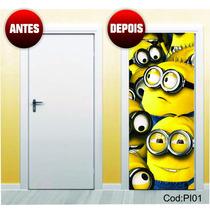 Adesivo Decorativo Para Portas, Sala Minions | Cod.pi01