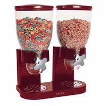 Dispensador Doble De Cereal O Dulces Color Rojo