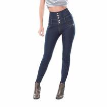 Jeans Costillero Cintura Alta Seven Eleven Skinny Envío Gr *