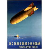 Lienzo Tela Anuncio Zeppelin Alemania 1935 70 X 50 Cm Poster