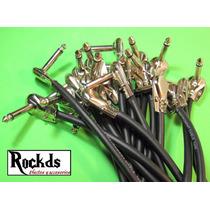 Paquete 4 Cables Parcheo Patch Pedal Alta Calidad Envio