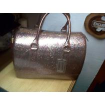 Cartera Furla Candy Bag Rosada Escarchada Original